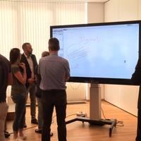 Präsentation Digitale Tafel in Leizig