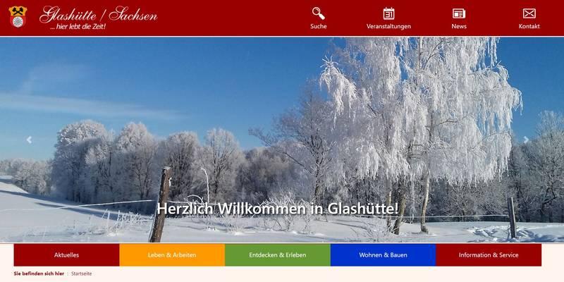 Neue Webseite der Stadt Glashütte